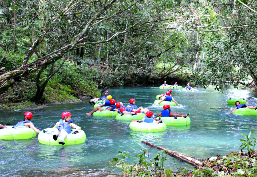 Tubing in White River Jamaica